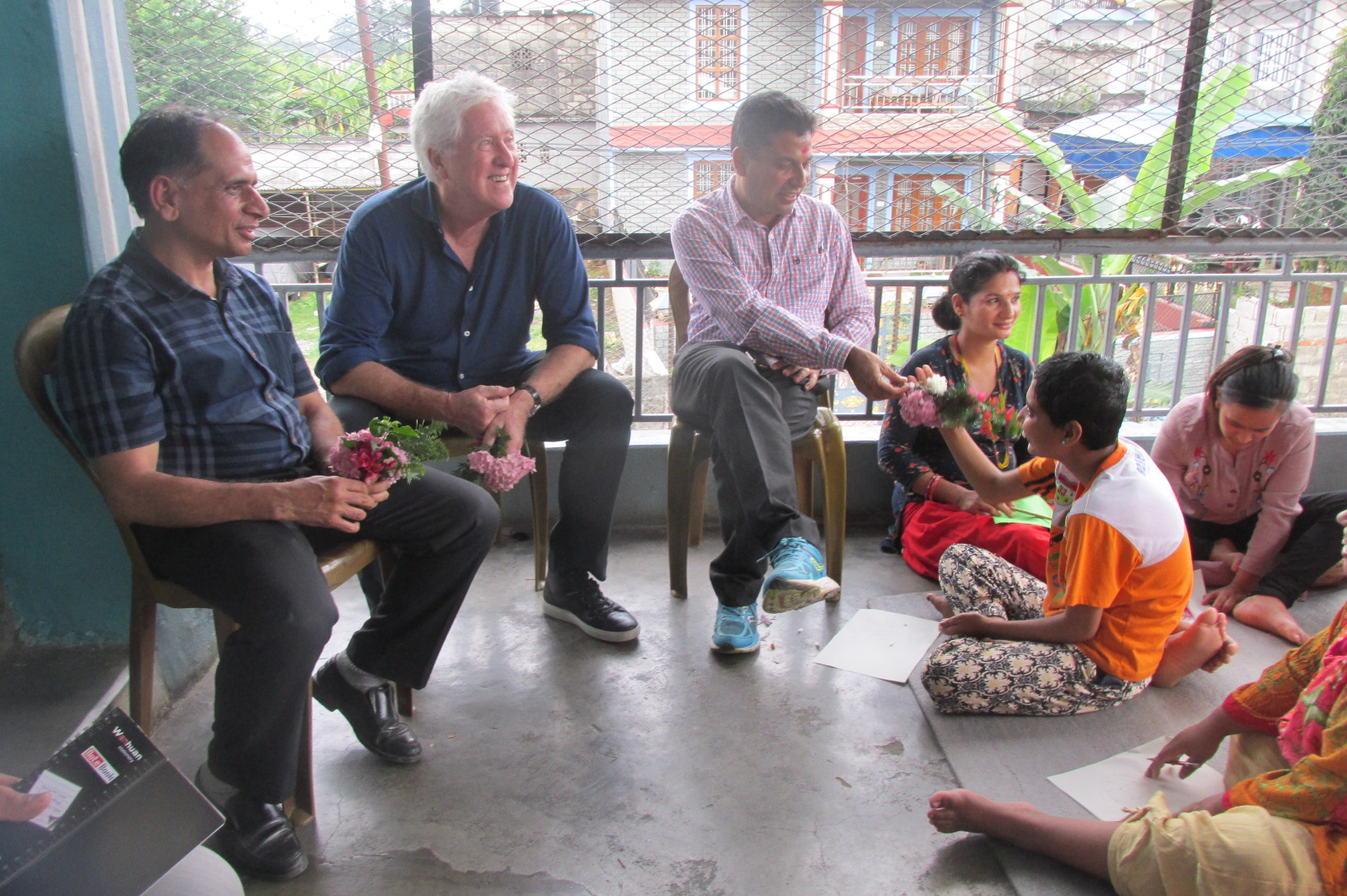 Chairman of CWS Honkong, Gordon gave a visit to KOPILA-Nepal Safe Home
